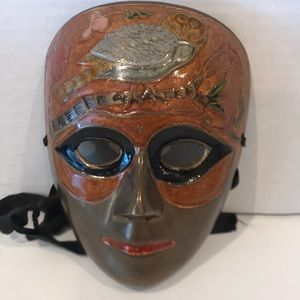 Antique Egyptian Brass Face Mask